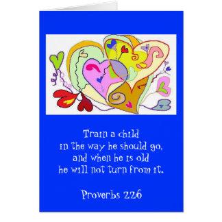 Cartão religioso do treinamento