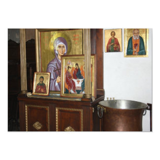 Cartão religioso dos ícones convite personalizado