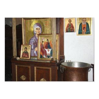Cartão religioso dos ícones convite 12.7 x 17.78cm
