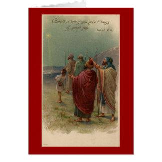 Cartão religioso dos pastores do Natal