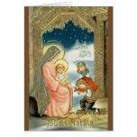Cartão religioso italiano do Natal do vintage
