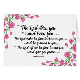 Cartão Religioso o senhor Bênção Você e mantem-no