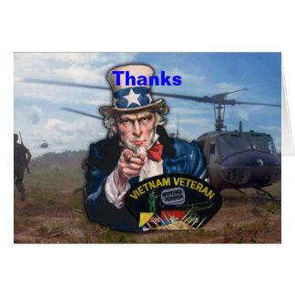 Cartão Remendo dos veterinários dos veteranos de guerra