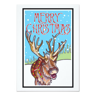 Cartão Rena do Feliz Natal