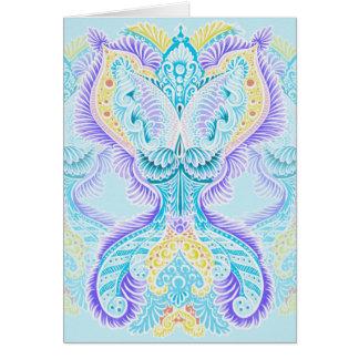 Cartão Renascimento, idade nova, meditação, boho, hippie