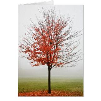 Cartão Rendição do outono