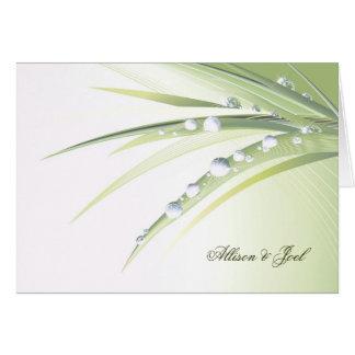 Cartão Renovação do voto de casamento das gotas de