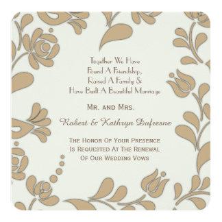 Cartão Renovação européia elegante do voto de casamento
