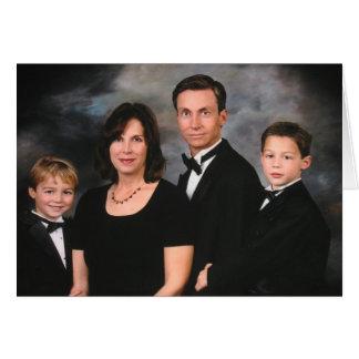 Cartão Reparo do contraste da família de Fourcher