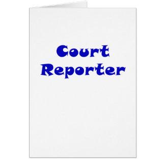 Cartão Repórter de corte