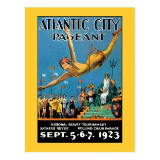 Cartão: Representação histórica de beleza de Atlan Cartões Postais