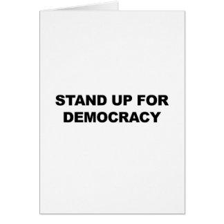 Cartão Represente acima a democracia