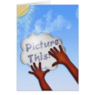 Cartão Represente isto - para inspirar e incentivar -1