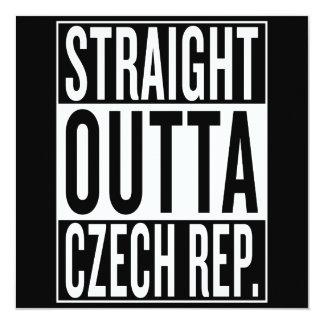 Cartão república checa do outta reto