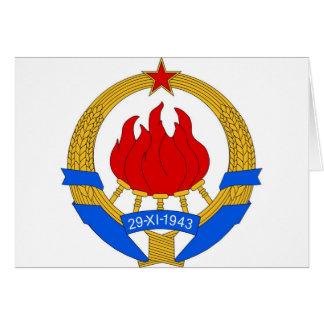 Cartão República federal socialista do emblema de