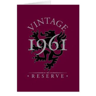 Cartão Reserva 1961 do vintage