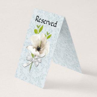 Cartão reservado gasto floral da barraca da mesa