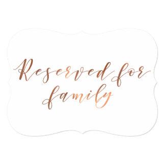 Cartão Reservado para o roteiro do cobre-olhar da família