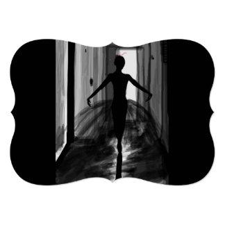 """Cartão Resíduo metálico 5"""" da bailarina x 7"""", envelopes"""