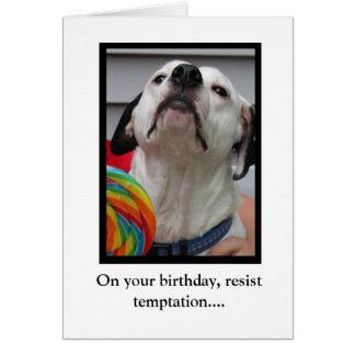 Cartão Resista a tentação