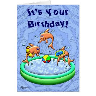 Cartão Respingo do aniversário