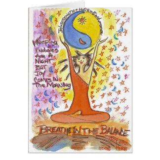Cartão Respire no equilíbrio