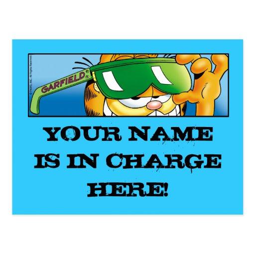 Cartão responsáveis de Garfield Logobox Cartão Postal