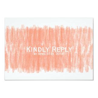 Cartão Resposta amável da aguarela coral que Wedding RSVP