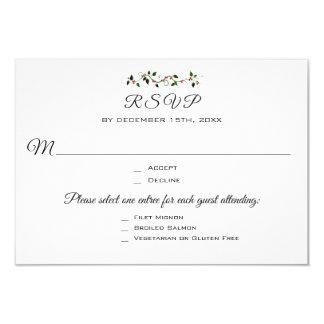 Cartão Resposta da entrada RSVP do casamento ou do evento