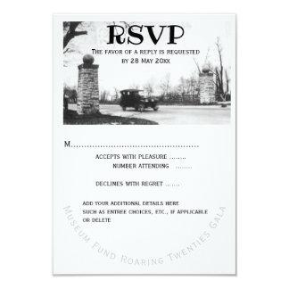 Cartão Resposta do convidado dos anos 20 RSVP rujir