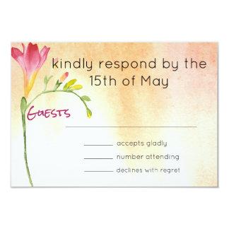 Cartão Resposta do Freesia de Boho