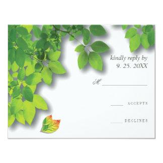 Cartão Resposta RSVP do carvalho do outono