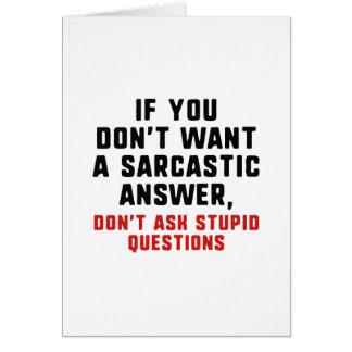 Cartão Resposta sarcástica