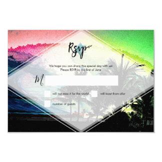 Cartão Ressacas de PixDezines RSVP acima do bar Mitzvah