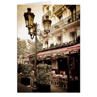 Cartão Restaurante da rua, Paris, France