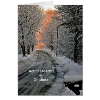 Cartão Resto no senhor Cristão Esperança Natal