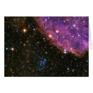 Cartão Resto SNR E0102 do Supernova