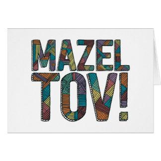 Cartão Retalhos de Mazel Tov multi