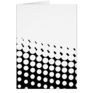 Cartão Reticulação diagonal de B e de W