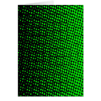 Cartão Reticulação verde e preta