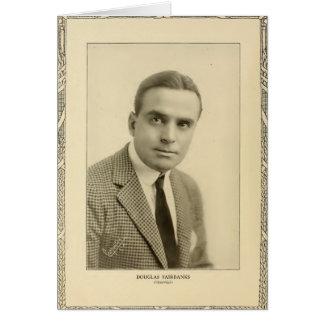 Cartão Retrato 1916 do vintage de Douglas Fairbanks