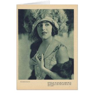 Cartão Retrato 1923 de Ruth Roland