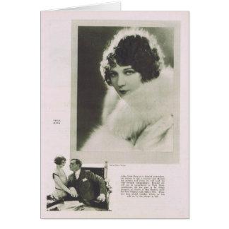 Cartão Retrato 1925 de Dana da viola