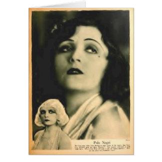 Cartão Retrato 1928 do encanto de Pola Negri