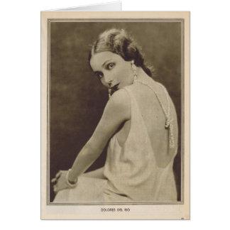Cartão Retrato 1930 do vintage de Dolores Del Rio