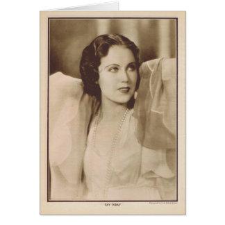 Cartão Retrato 1930 do vintage de Fay Wray