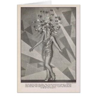 Cartão Retrato 1930 do vintage do branco de Alice