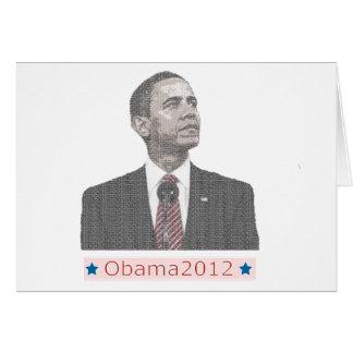 Cartão Retrato 2012 do texto de Barack Obama
