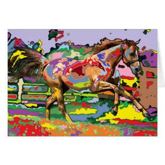 Cartão retrato 3 do cavalo