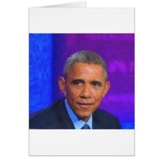Cartão Retrato abstrato do presidente Barack Obama 8 a.jp